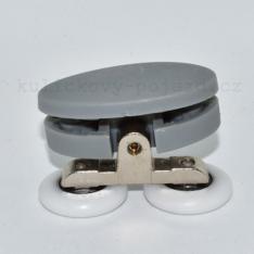 Pojezdové dvoj kolečko spodní A080 ke sprchovému koutu (skladem jenom v šedé barvě)